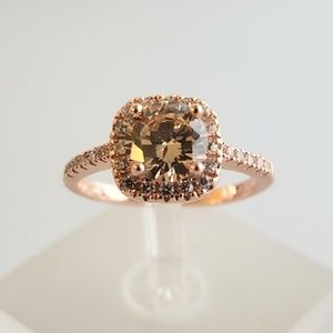 18k Over Sterling Morganite Ring 🌷 HOST PICK!!!